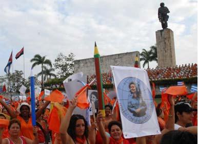 Enérgico y Combativo Primero de Mayo en Villa Clara.