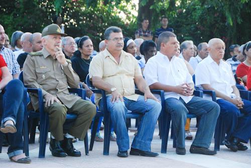 Ramiro Valdés en la PLaza del Che.